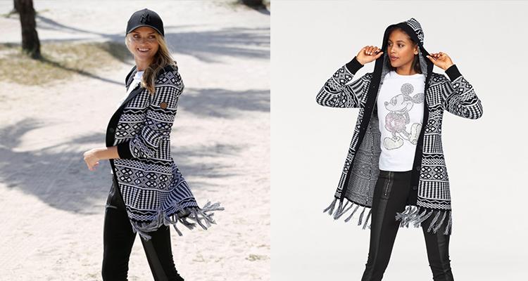 Pletený sveter s kapucňou KangaROOS