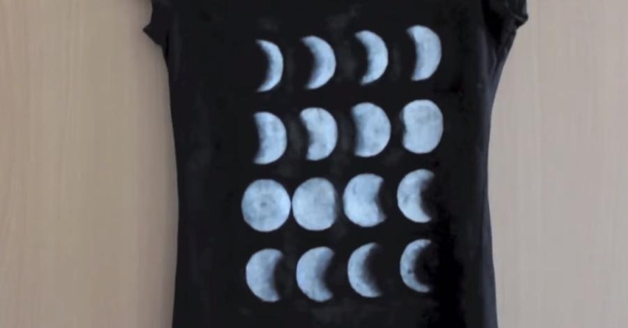 Vytvor si sám: Originálne tričko s mesačnými fázami